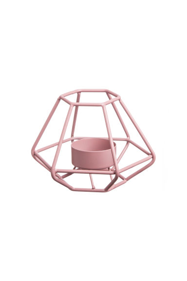 Metal tealight holder - Old rose - Home All | H&M CN 1