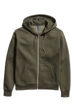 Hooded jacket - Khaki green - Men | H&M GB 1