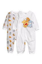 2-pack pyjamas - Vit - Kids | H&M FI 1