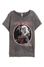 T-shirt with a print motif - Dark grey/Iron Maiden - Ladies | H&M CN 2