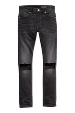 Skinny Low Trashed Jeans - Zwart washed out - HEREN | H&M BE 2