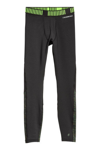 Thermal sports tights - Black/Spotted - Men | H&M IE