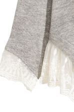 Jumper with lace trims - Light grey marl - Ladies | H&M 4