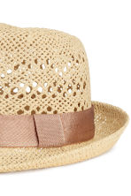 Straw hat - Vintage pink - Ladies | H&M CA 2