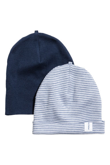 2-pack hats - Dark blue - Kids | H&M CA
