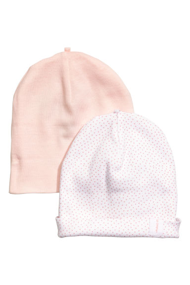 2-pack hats - Powder pink - Kids | H&M 1