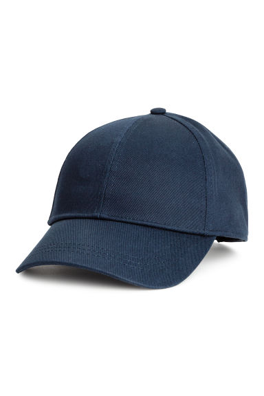 Cotton cap - Dark blue - Ladies | H&M 1