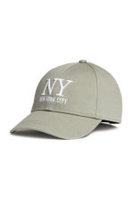 Cotton cap - Khaki green/New York - Ladies | H&M CN 1