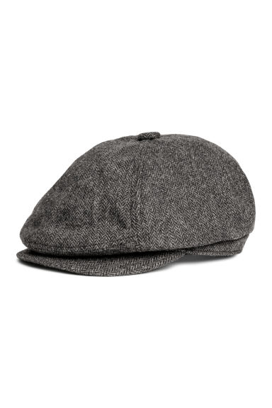 Flat cap - Black marl - Men | H&M