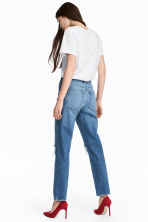Vintage High Cropped Jeans - Denim blue trashed - Ladies | H&M CN 4