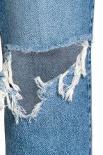 Vintage High Cropped Jeans - Denim blue trashed - Ladies | H&M 5