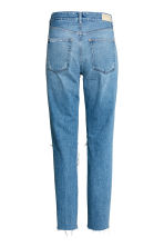 Vintage High Cropped Jeans - Denim blue trashed - Ladies | H&M 3