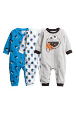 3-pack pyjamas - Blue/Cookie Monster - Kids | H&M CN 1