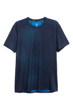 Short-sleeved sports top - Blue - Men | H&M CA 2