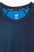 Short-sleeved sports top - Blue - Men | H&M 3