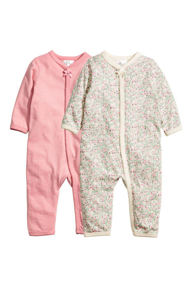 2-pack all-in-one pyjamas - Green -  | H&M CA 1