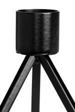 Pyramid-shaped candlestick - Black - Home All | H&M CN 2