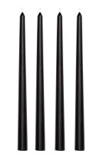 4-pack cone-shaped candles - Black - Home All | H&M CA 1