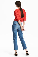 Straight High Ankle Jeans - 牛仔蓝 - 女士 | H&M CN 4