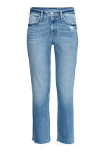 Straight High Ankle Jeans - 牛仔蓝 - 女士 | H&M CN 2