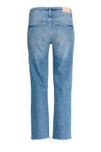 Straight High Ankle Jeans - 丹寧藍 -  | H&M 3