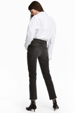Straight High Ankle Jeans - Black denim - Ladies | H&M 3