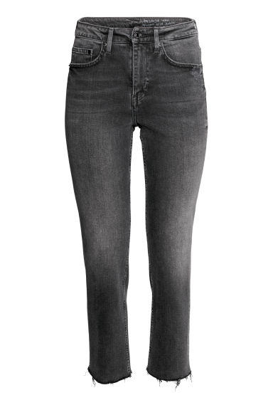 Straight High Ankle Jeans - Black denim - Ladies | H&M 1