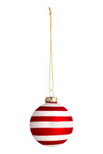 2-pack Christmas tree baubles - White/Red - Home All | H&M CN 2