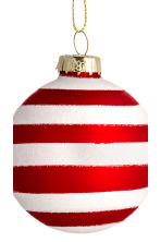2-pack Christmas tree baubles - White/Red - Home All | H&M CN 3