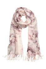 Woven scarf - Purple/Patterned - Ladies | H&M 1
