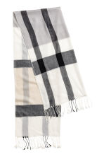 Woven scarf - Grey/Checked - Ladies | H&M 2