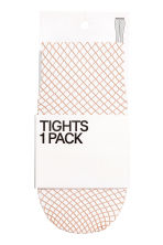 Fishnet tights - Light beige - Ladies | H&M CN 1