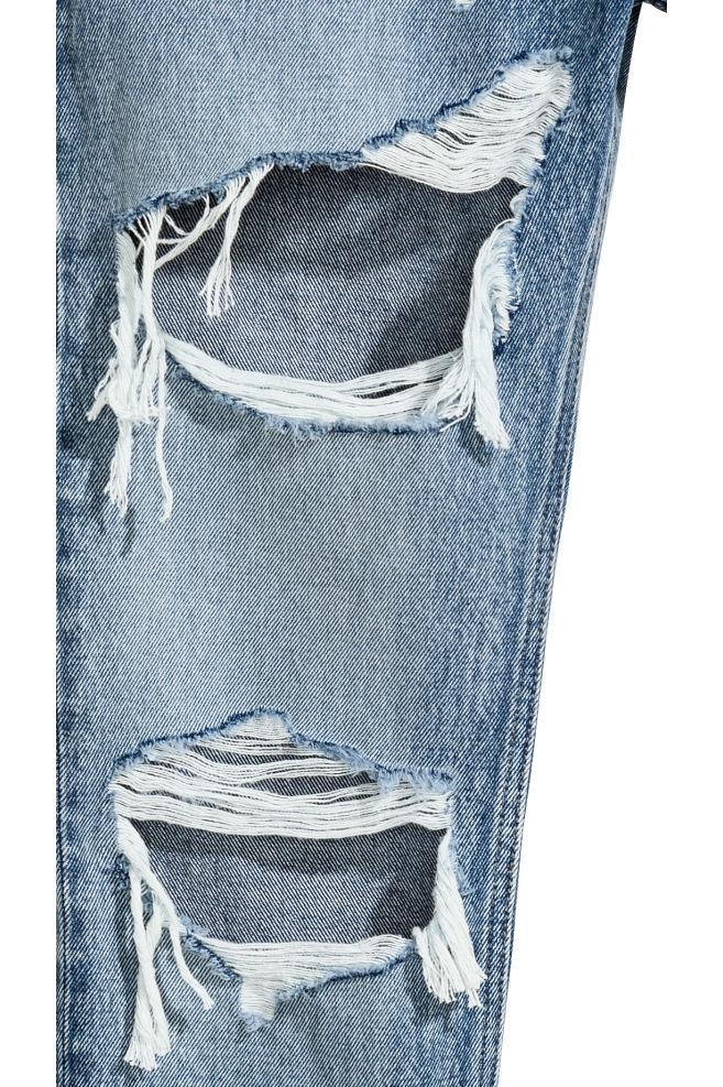 Slim Regular Trashed Jeans - Denim blue trashed - | H&M GB