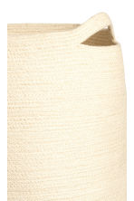 Jute laundry basket - Natural white/Dark blue - Home All | H&M CN 2