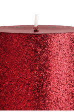 Large pillar candle - Burgundy/Glittery - Home All | H&M IE 3