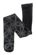 Thin tights - Black/Cobweb - Kids | H&M CN 1
