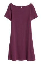 Abito in jersey a costine - Viola scuro - DONNA | H&M IT 2