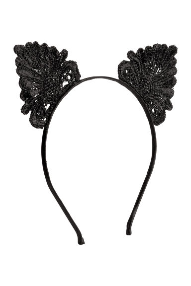 Alice band with ears - Black - Ladies | H&M IE 1