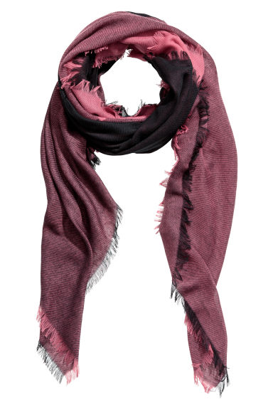 Block-patterned scarf - Rust/Black - Ladies | H&M IE