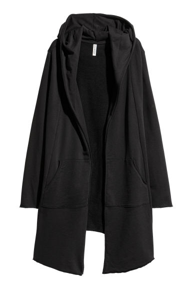 Sweatshirt cardigan - Black - Ladies | H&M CN 1