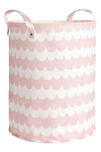 Storage basket - Light pink/Patterned - Home All | H&M CN 1