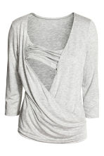 MAMA Nursing top - Light grey marl - Ladies | H&M CN 3