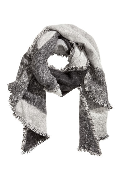 Large scarf - Black/Grey - Ladies | H&M