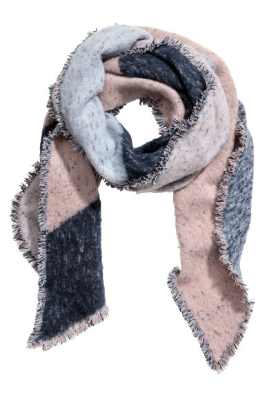Large scarf - Light pink/Grey - Ladies | H&M CN