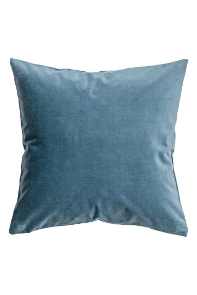 Velvet cushion cover - Pigeon blue - Home All | H&M CA 1