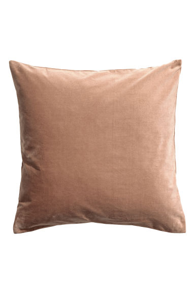 Housse de coussin en velours - Camel - Home All | H&M FR 1