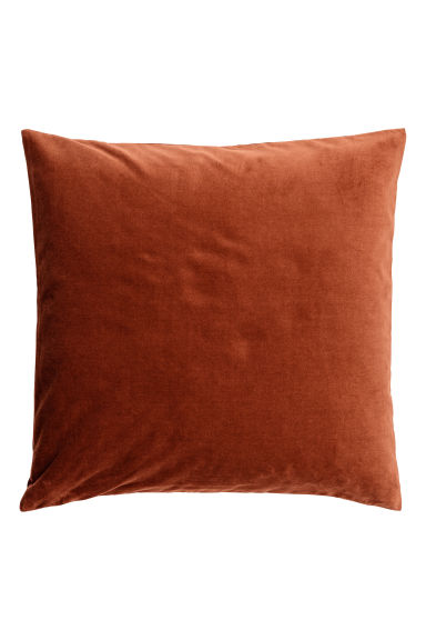 Velvet cushion cover - Dark orange - Home All | H&M CN 1