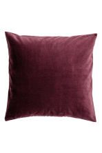 Velvet cushion cover - Burgundy - Home All | H&M CN 1