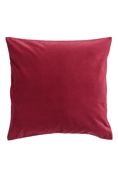 Velvet cushion cover - Dark red - Home All | H&M CN 1