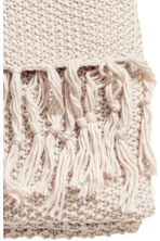 Moss-knit blanket - Light beige - Home All | H&M CN 2